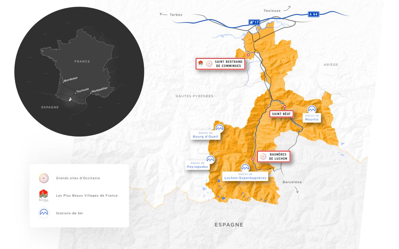 Carte Pyrénées 31