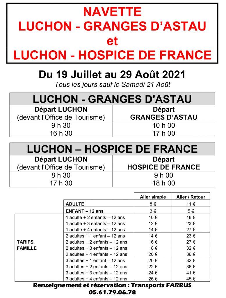Navettes Granges d'astau - hospice de france